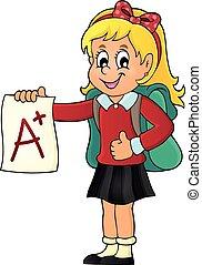 學校, 等級, 1, 主題, 加上, 女孩