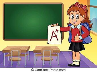 學校, 等級, 3, 主題, 加上, 女孩