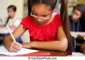 學校, 組, 學生, 承認, 檢查, 測試