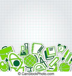 學校, 集合, 彙整, 矢量, 教育, 圖象