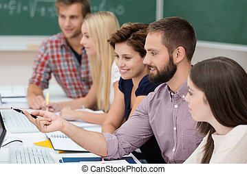 學生, 學習, 大學, 一起