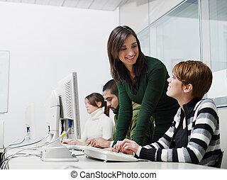 學生, 電腦, 老師, 類別