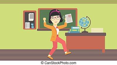 學生, result., 紙, 藏品, 測試, 最好