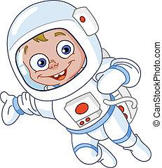 宇航員, 年輕