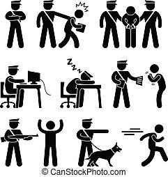 安全, 警察, 賊, 衛兵, 官員