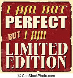 完美, 有限, 海報, 不過, 版本, 不