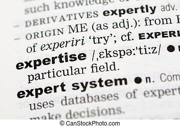 定義, 專門技能, 字典