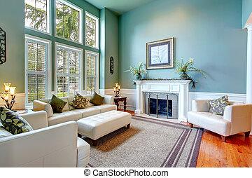 客廳, 房子, 雅致, 豪華, interior.