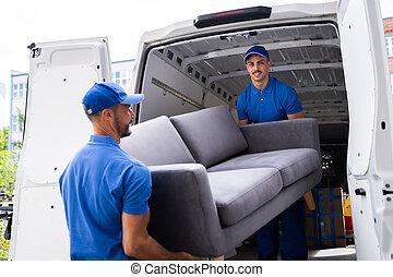 家具, 移動, 卡車, 交付, 移動
