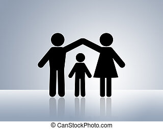 家, 安全, 保護, 孩子