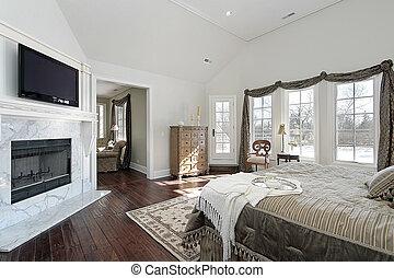 家, 新, 建設, 掌握, 寢室