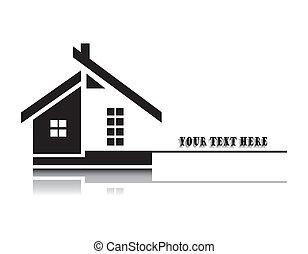 家, 白色, 矢量, 背景, 插圖