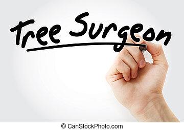 寫, 外科醫生, 樹, 記號, 手