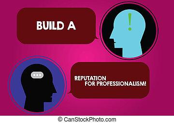 寫, 是, 正文, 顯示, punctuations., 相片, 你, 建造, 事務, 什麼, 手, 氣泡, 閒談, 概念性, 名聲, 專業人員, 房間, 信使, 頭, professionalism., 演說