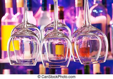 射擊, 特寫鏡頭, 集合, 酒吧, 酒杯