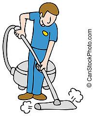 專業人員, 地毯, 擦淨劑