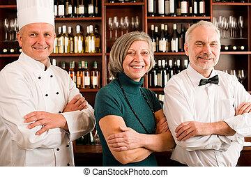 專業人員, 經理, 人員, 矯柔造作, 餐館