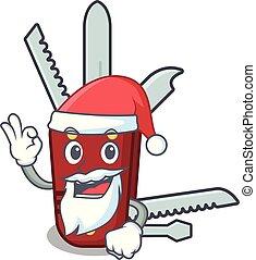 小刀, 袋子, 卡通, 聖誕老人