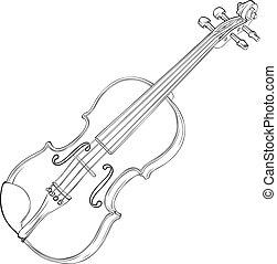 小提琴, 圖畫
