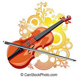 小提琴, 摘要, 圖案