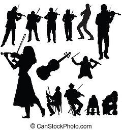 小提琴, 集合, 表演者