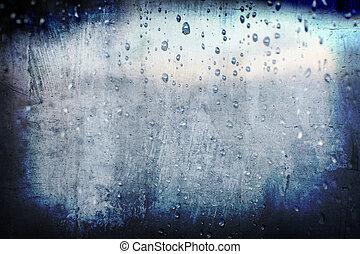 小滴, 摘要, grunge, 雨, 背景