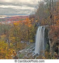 小瀑布, 瀑布, 山。, beauiful