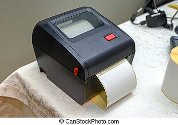 小, 代碼, 酒吧, 打印机
