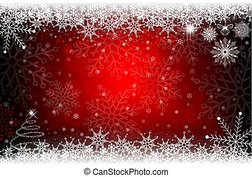 小, 設計, 樹, 聖誕節, 紅色