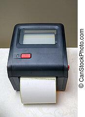 小, barcode, 打印机