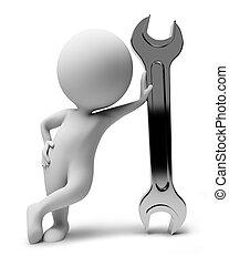小, people-wrench, 3d