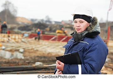 居民, 建造者, 建築工地, 工程師