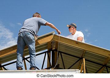 屋頂, 工人, 建設