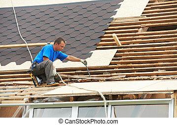 屋頂, 工作, 屋頂, 屈曲