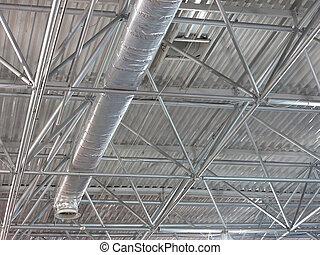 屋頂, 結构, 摘要, 當代, 金屬, 技術