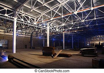 屋頂, 飛机修理庫