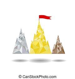 山, 目標, 形式, 峰頂, 指揮臺, 達到