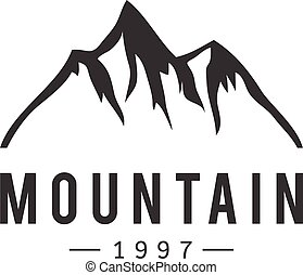 山, 矢量, 徽章, 圖象