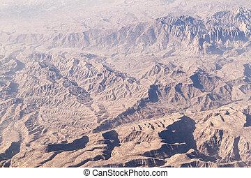 山, ir, 看法, khorramabad, 空中
