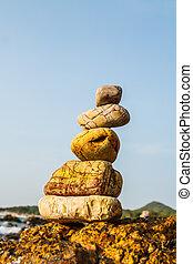 岩石, 海岸, 海, 自然