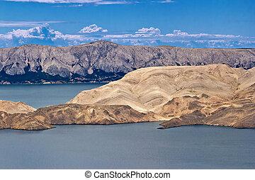 島, 石頭, 沙漠, pag