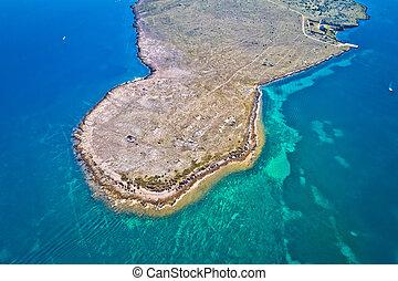 島, zecevo, 空中, 沙漠, 看法, 石頭