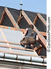 工人, 屋頂