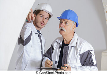工人, 建築工地, 二