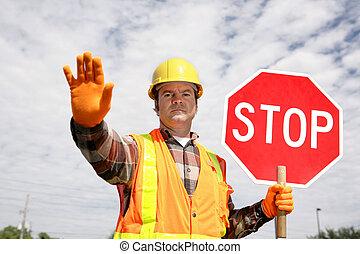 工人, 建設, 停止