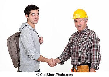 工人, 建設, 大學生, 遞震動