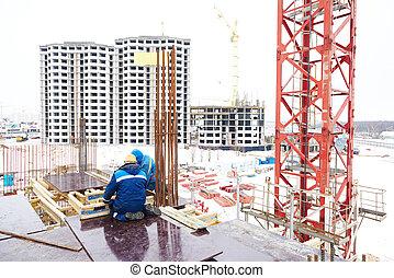 工人, 建設, 建造地點