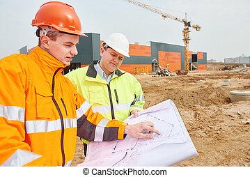工人, 建設, 建造者, 站點