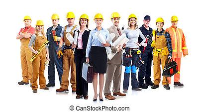 工人, 建設, group.