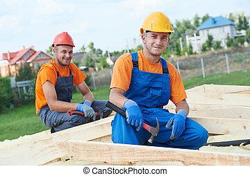 工人, 木匠, 屋頂